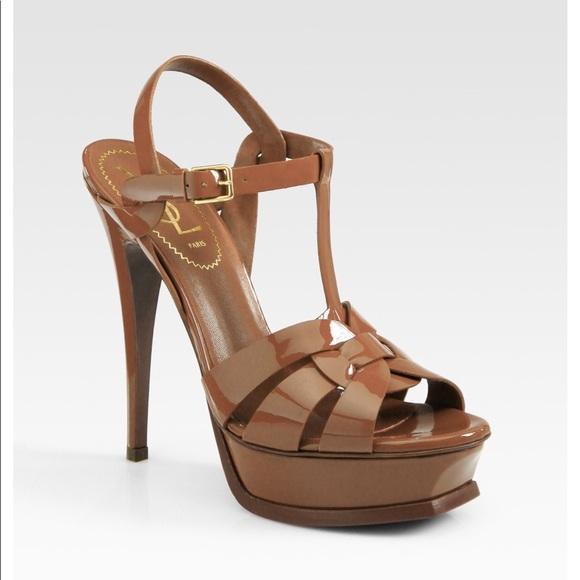 54337c04e49 YSL Tribute Patent Leather Platform Sandals. M 5b0dadf1a825a6bd18a35fd0